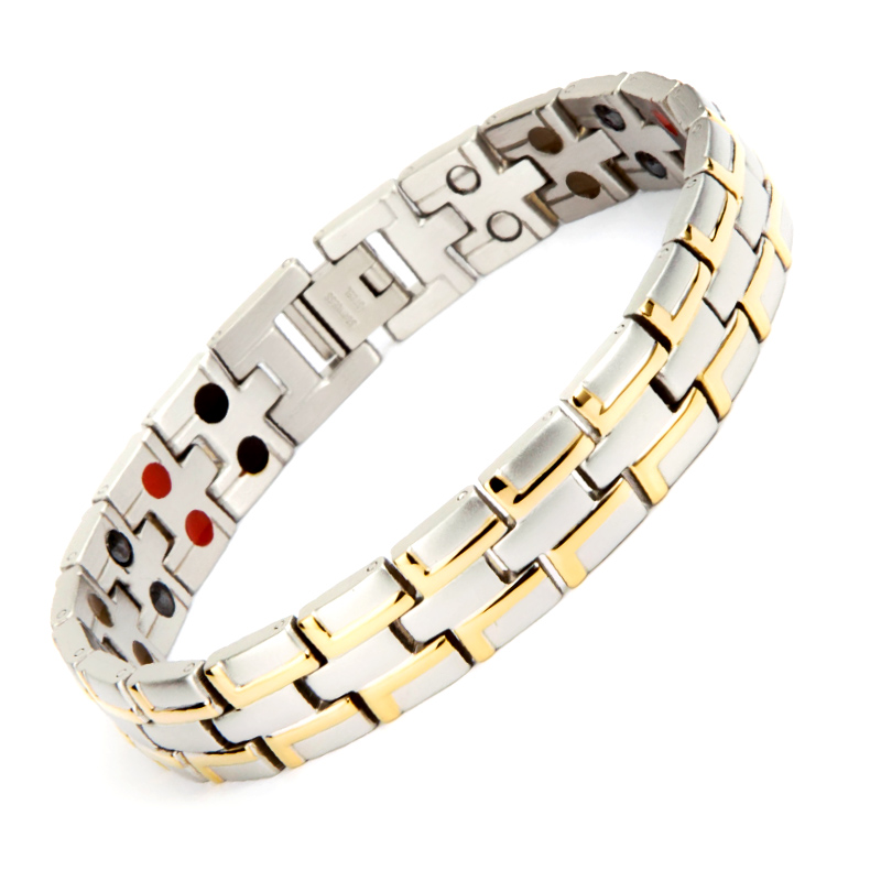 38 Jewelry Birthday Gift for Dad Couple silver color Health charm bangles Germanium Steel Bio Magnetic Stainless steel Bracelet