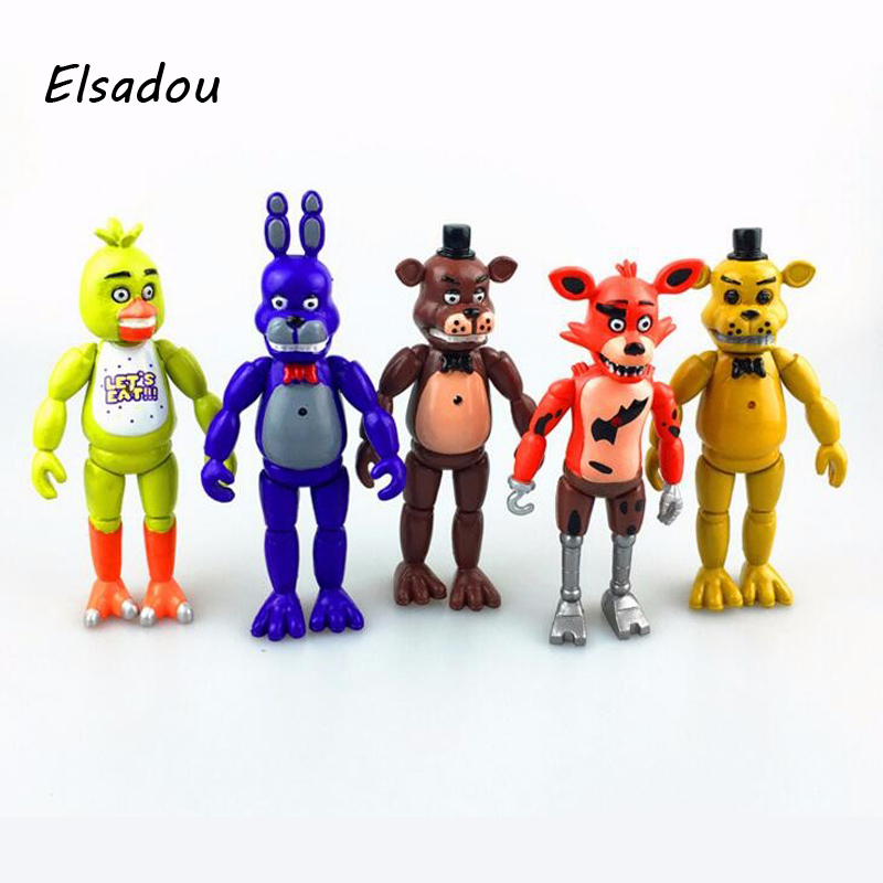5 adet/grup 15 cm Beş Nights At Freddy PVC Action Figure Oyuncak